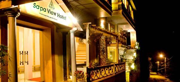 Khách sạn Sapa View lung linh trong đêm
