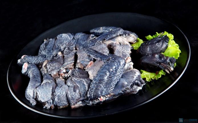 Thịt và xương của gà đều màu đen