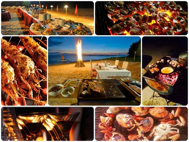 Thưởng thức tiệc BBQ trên bờ biển